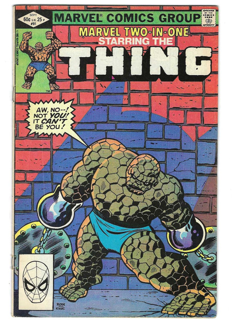 Marvel Two In One #91: Starring The Thing - 1982 - Marvel Comic - GD