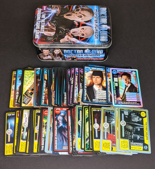 Doctor Who Monster Invasion Trading Card Bundle - 140 Mixed Trading Cards, Tin + FREE Doctor Who Mystery Gift!