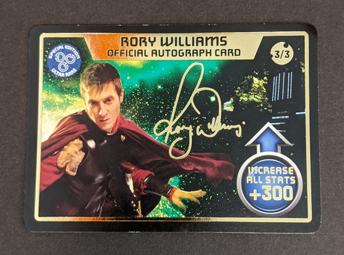 Doctor Who: Monster Invasion Extreme - Rory Williams Official Autograph Card - 2010 - BBC Worldwide - VG