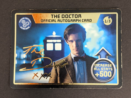 Doctor Who: Monster Invasion Extreme - The Doctor Official Autograph Card - 2010 - BBC Worldwide - GD