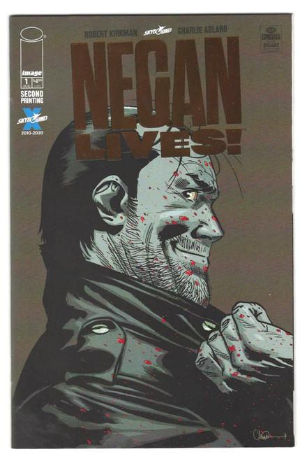 Negan Lives #1 - Bronze Foil One Per Store Variant - 2nd Printing - 2020 - Skybound Comic - FN