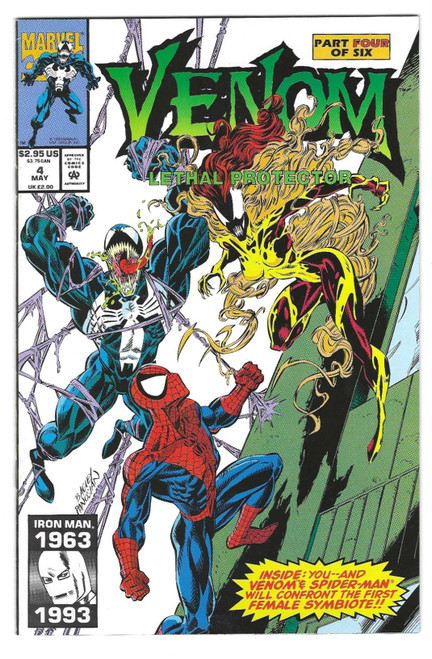 Venom: Lethal Protector #4 - First Appearance Of Scream - 1993 - Marvel Comic - FN