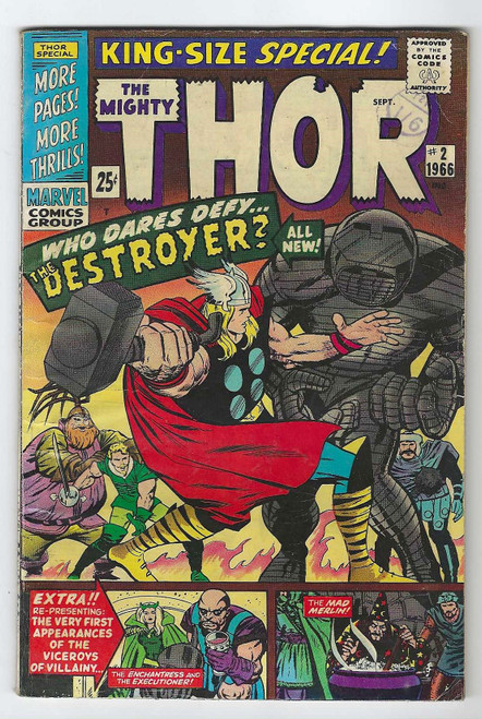 The Mighty Thor Annual #2 - 1966 - Marvel Comic - GD
