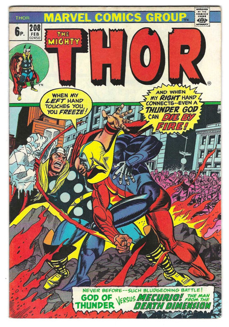 The Mighty Thor #208 - 1973 - Marvel Comic - VG