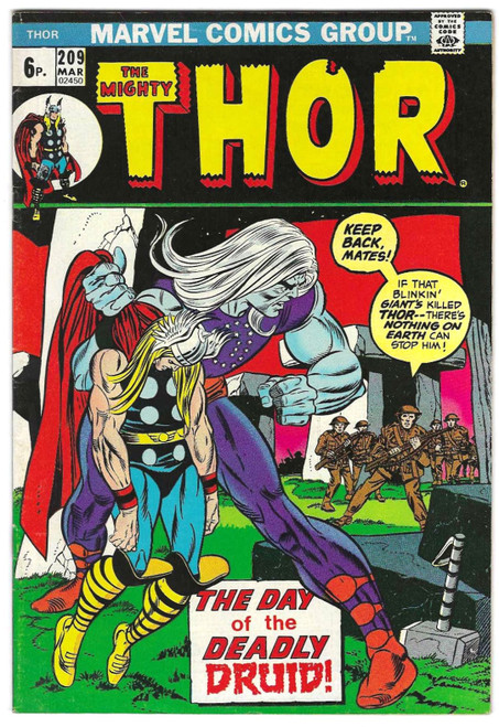 The Mighty Thor #209 - 1973 - Marvel Comic - VG