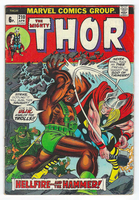 The Mighty Thor #210 - 1973 - Marvel Comic - GD