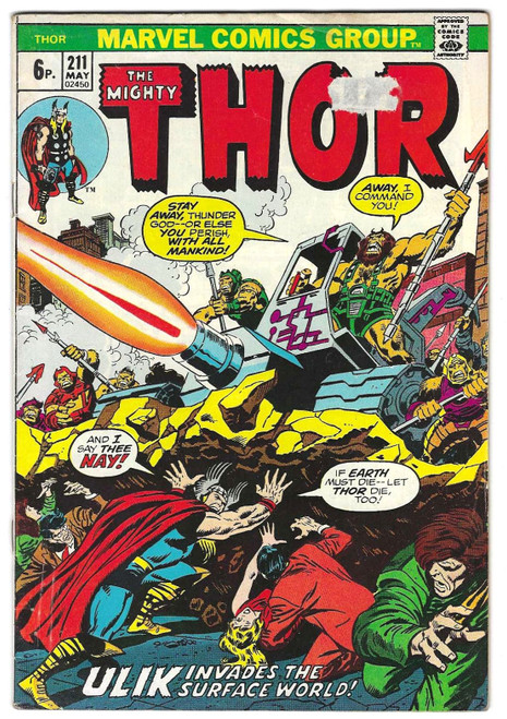 The Mighty Thor #211 - 1973 - Marvel Comic - GD