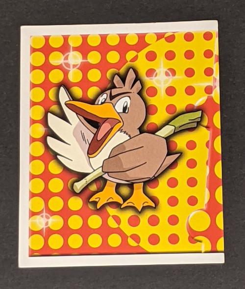 Farfetch'd Pokemon Sticker - 1999 - Merlin