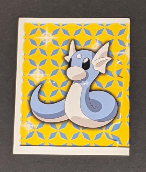 Dratini Pokemon Sticker - 1999 - Merlin