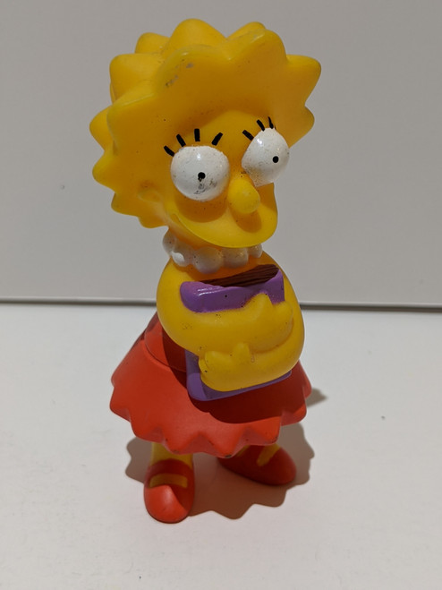 The Simpsons Vintage Burger King Simpsons Collection - Lisa Simpson Carrying Books Figure - 2001 - Burger King - VG