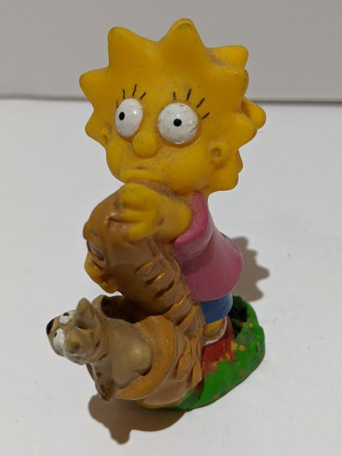 The Simpsons Lisa Simpson Saxophone Figure - 1990 - TCFFC - VG