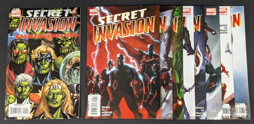 Secret Invasion #1-8 Full Set Plus Extra One-Shot - 2008 - Marvel Comics - VG