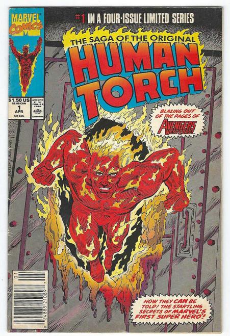 The Saga Of The Original Human Torch #1  - 1990 - Marvel Comic - VG