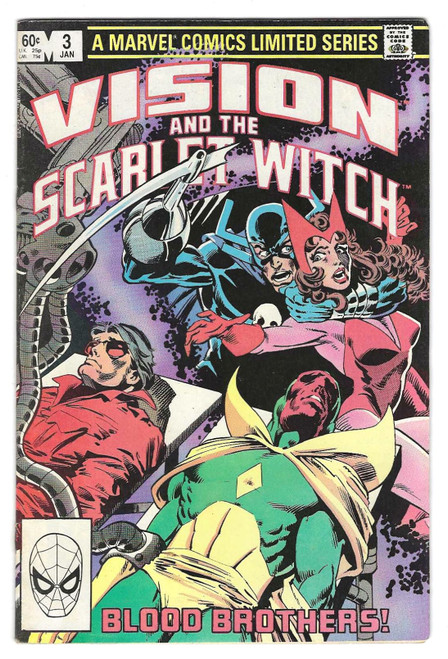 Vision And The Scarlet Witch #3 - 1982 - Marvel Comic - VG