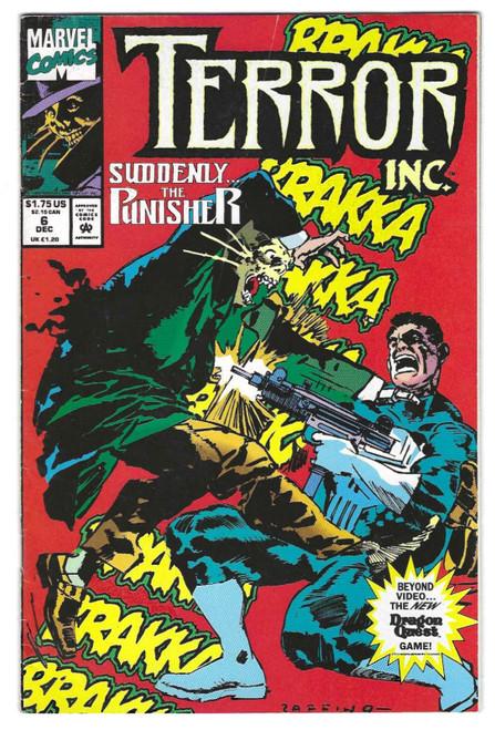 Terror Inc #6 - 1992 - Marvel Comic - VG