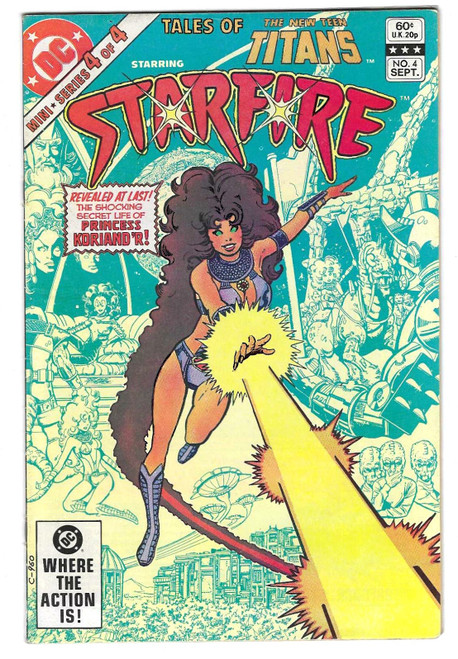 Tales Of The New Teen Titans: Starfire #4 - 1982 - DC Comic - VG