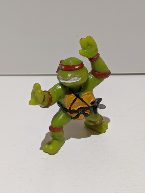 Teenage Mutant Ninja Turtles Raphael Mini Figure - 1988 - Playmates - VG