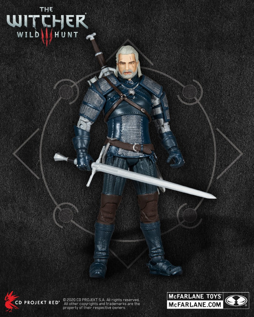"""The Witcher: Geralt of Rivia Teal Viper Armor 7"""" Action Figure - 2021 - McFarlane Toys"""