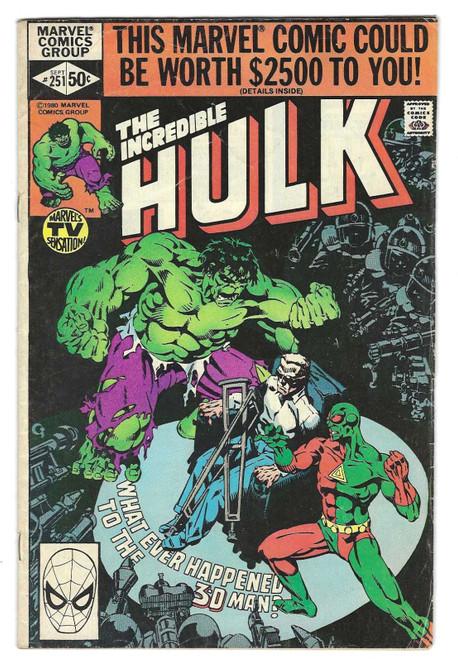 The Incredible Hulk #251 - 1980 - Marvel Comic - GD