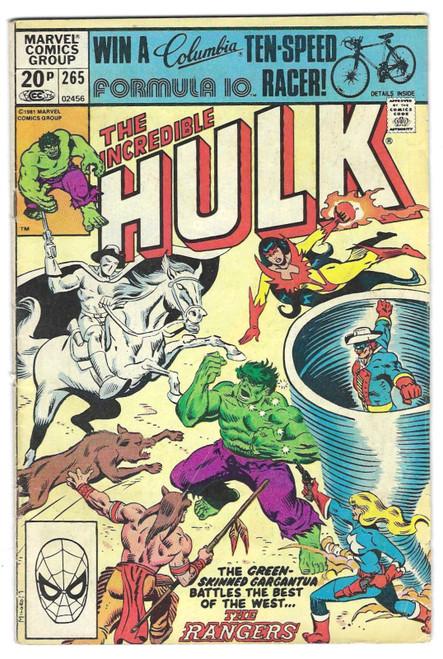 The Incredible Hulk #265 - 1981 - Marvel Comic - GD