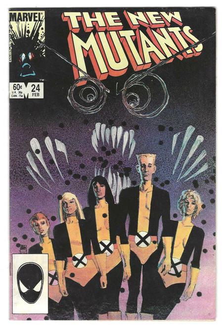 The New Mutants #24 - 1984 - Marvel Comic - VG