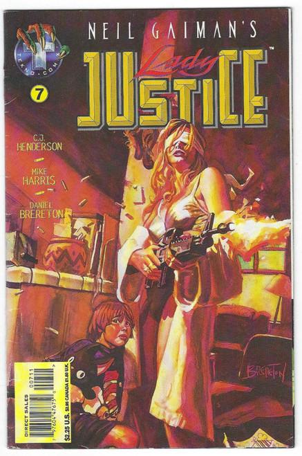 Neil Gaiman's Lady Justice #7 - 1996 - Tekno Comic - GD