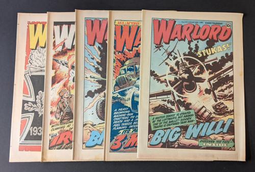 Warlord Bundle - x5 Randomly Selected Warlord Comics From 1974-1986 - DC Thomson