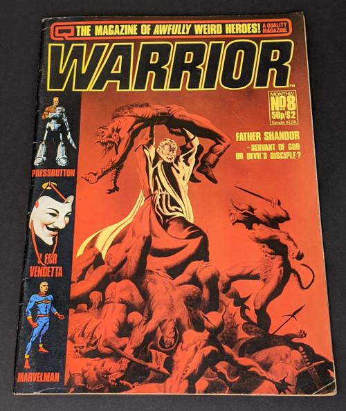 Warrior #8 - 1982 - Quality Communications Comic - GD