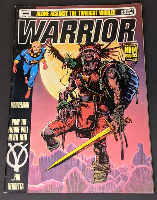 Warrior #14 - 1983 - Quality Communications Comic - GD