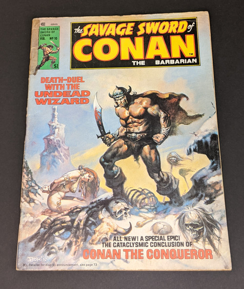 The Savage Sword Of Conan The Barbarian #10 - 1976 - Curtis Magazines - FR