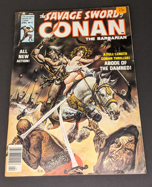 The Savage Sword Of Conan The Barbarian #11 - 1976 - Curtis Magazines - GD