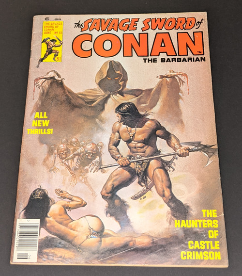 The Savage Sword Of Conan The Barbarian #12 - 1976 - Curtis Magazines - FR
