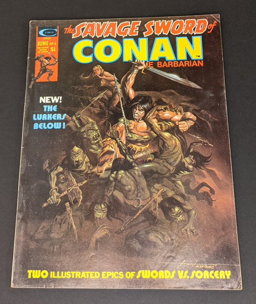 The Savage Sword Of Conan The Barbarian #6 - 1975 - Curtis Magazines - GD