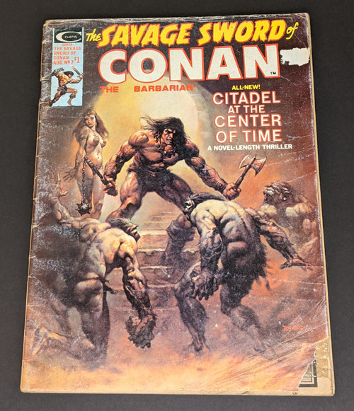 The Savage Sword Of Conan The Barbarian #7 - 1975 - Curtis Magazines - PR