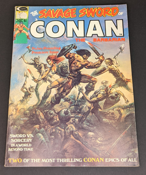 The Savage Sword Of Conan The Barbarian #1 - 1974 - Curtis Magazines - FR