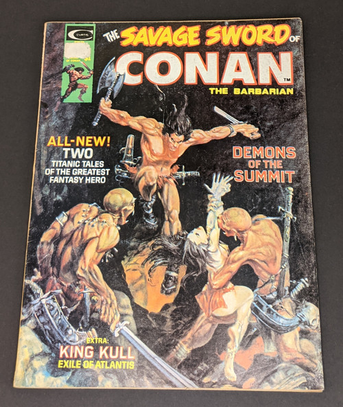 The Savage Sword Of Conan The Barbarian #3 - 1974 - Curtis Magazines - FR