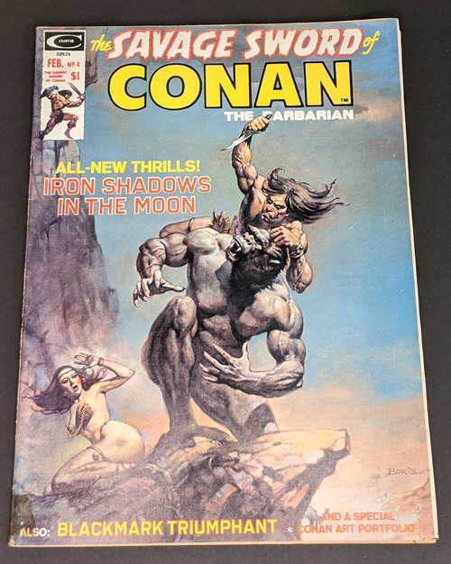 The Savage Sword Of Conan The Barbarian #4 - 1974 - Curtis Magazines - FR