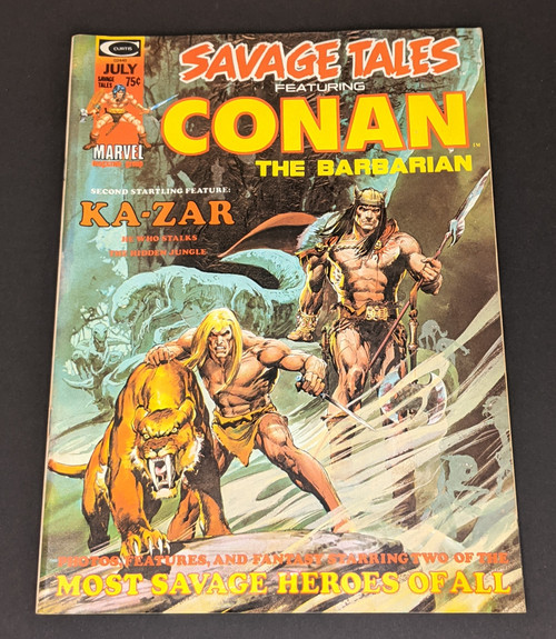 Savage Tales Featuring Conan The Barbarian #5 - 1974 - Curtis Magazines - VG