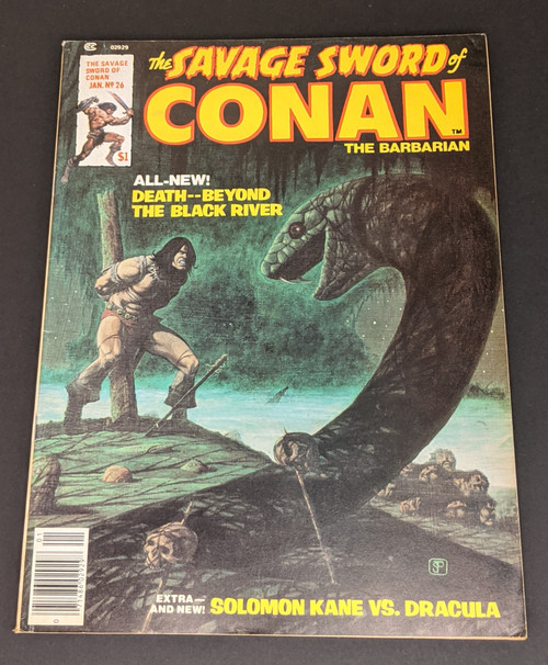 The Savage Sword Of Conan The Barbarian #26 - 1978 - Curtis Magazines - GD