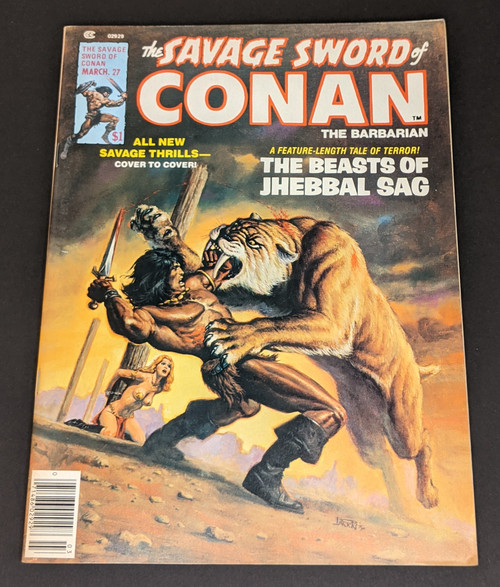 The Savage Sword Of Conan The Barbarian #27 - 1978 - Curtis Magazines - VG