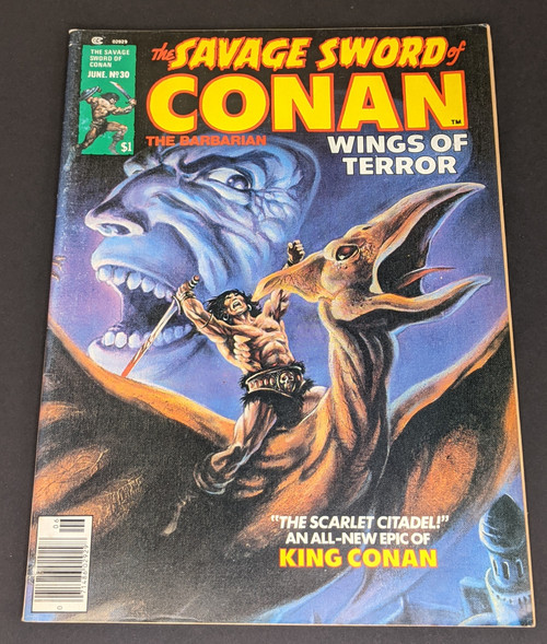 The Savage Sword Of Conan The Barbarian #30 - 1978 - Curtis Magazines - VG