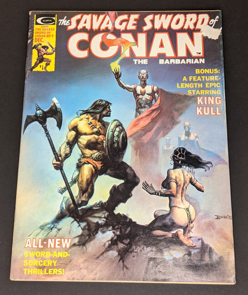 The Savage Sword Of Conan The Barbarian #9 - 1974 - Curtis Magazines - FR
