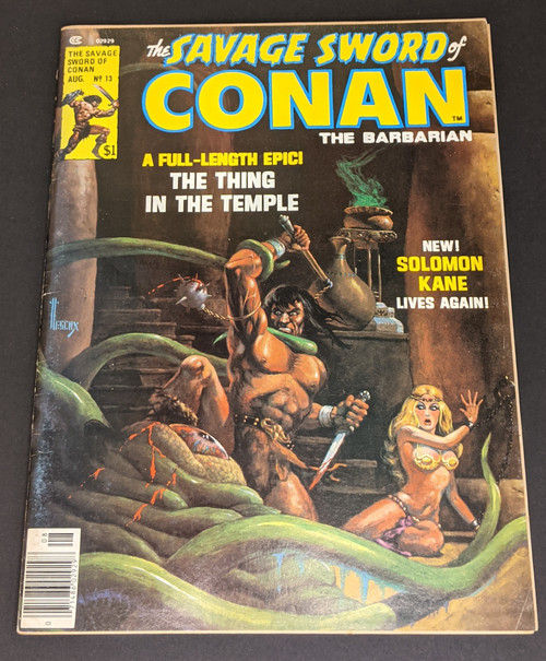 The Savage Sword Of Conan The Barbarian #13 - 1975 - Curtis Magazines - GD