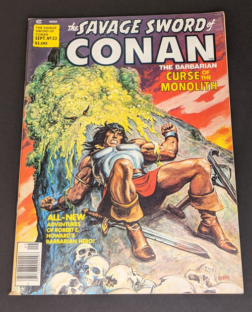 The Savage Sword Of Conan The Barbarian #33 - 1978 - Curtis Magazines - VG