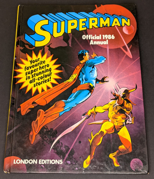 Superman Official Annual - 1986 - London Edition Book - HC - GD