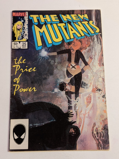 The New Mutants Volume 1 #25 - The Price Of Power - First Cameo Appearance Of Legion - 1985 - Marvel Comic - GD