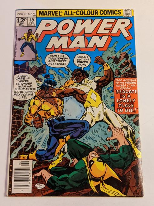 "Power Man #49 - 1978 - Final ""Power Man"" Titled Issue - Marvel Comic - VG"