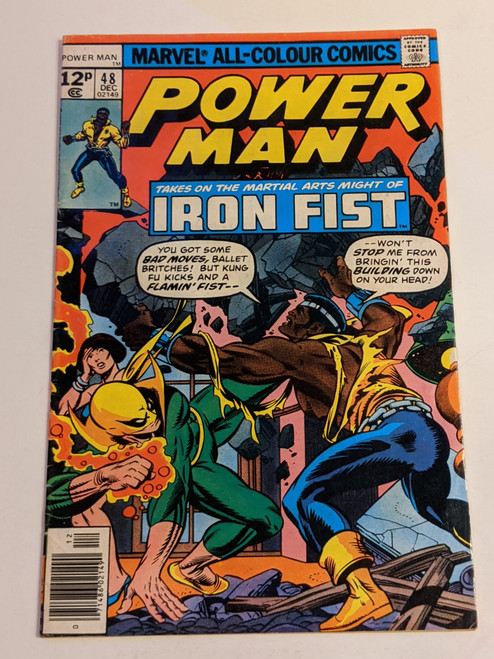 Power Man #48 - 1977 - First Team Up Of Power Man And Iron Fist - Marvel Comic - VG