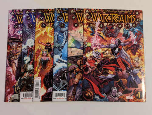 The War Of The Realms #1-6 Full Set - 2018 - Marvel Comics - VG