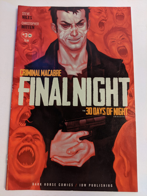 Criminal Macabre: Final Night #3 - The 30 Days Of Night Crossover - 2013 - Dark Horse/IDW - GD